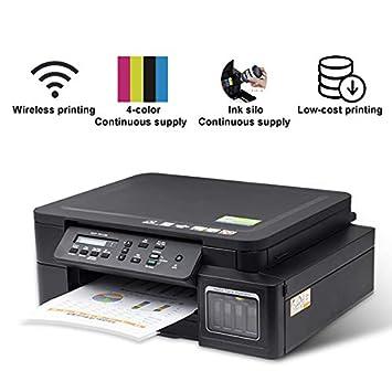 TANCEQI Impresora Multifunción (Inyección de Tinta Micro Piezo, 4 ...