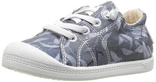 Roxy Girls' TW Bayshore Sneaker, Navy, 10 M US Toddler