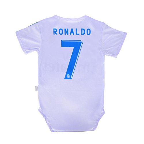 Amazon.com   World Cup Baby Cristiano Ronaldo  7 Real Madrid Soccer Jersey  Baby Infant and Toddler Onesie Romper Premium Quality - Home and Away PACK  OF 2 ... d411f9f22