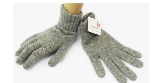 Gray 100% Cashmere - Women's Cashmere Gloves Made in Scotland (Light Gray)