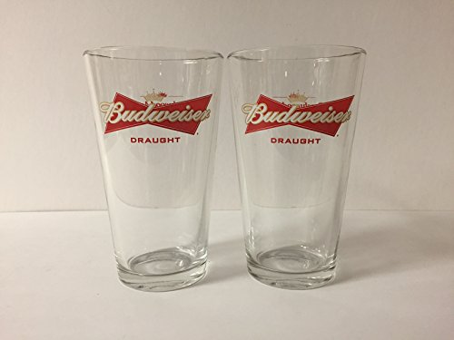 Budweiser Draft Beer - Budweiser Draught Beer 16oz Pint Glass - Beechwood Aged - 2 Pk