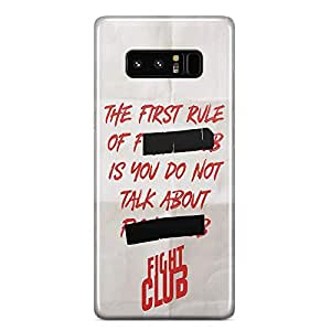 Loud Universe White And Red First Rule of Fight Club Samsung Note 8 Case with 3d Wrap around Edges Fight Club Phone Case