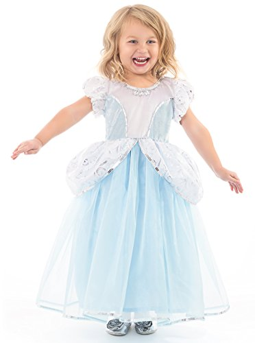 [Little Adventures Deluxe Cinderella Princess Dress Up Costume (Medium)] (Cinderella Dress Up)