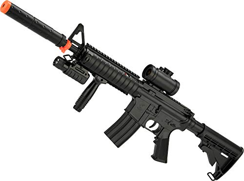 Evike DE M83A2 Full Size M4 RIS Carbine Low Power Airsoft AEG Electric Rifle Package