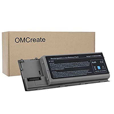 OMCreate Laptop Battery for Dell Latitude D630 D620, fits P/N PC764 PP18L TC030 - 12 Months Warranty [6-Cell Li-ion]