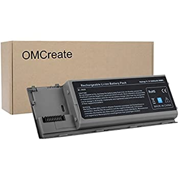 OMCreate Battery Compatible with Dell Latitude D630 D620, fits P/N PC764 PP18L TC030-12 Months Warranty [6-Cell Li-ion]
