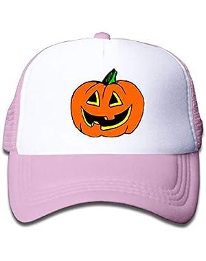 Halloween Pumpkin Clipart On Boys and Girls Trucker Hat, Youth Toddler Mesh Hats Baseball Cap