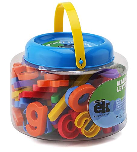 EduKid Toys ABC Magnets - 109 Magnetic Alphabet Letters & Numbers with Take Along Bucket by EduKid Toys (Image #4)