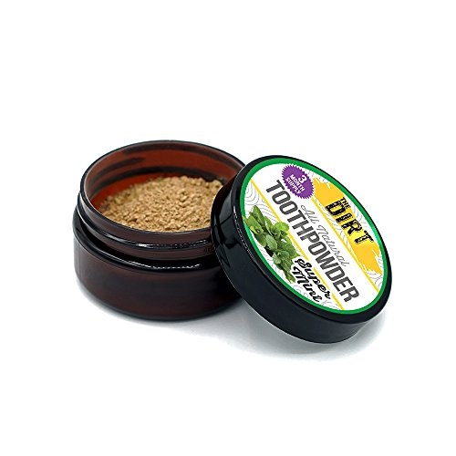 The Dirt All Natural Super Mint Trace Mineral Tooth Brushing Powder - 3 month supply, 25g