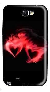 Samsung Note 2 Case Love The Fiery Heart 3D Custom Samsung Note 2 Case Cover WANGJING JINDA
