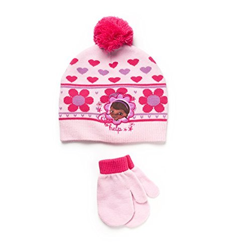 Disney Doc McStuffins Toddler Girl Beanie Knit Hat and Mi...