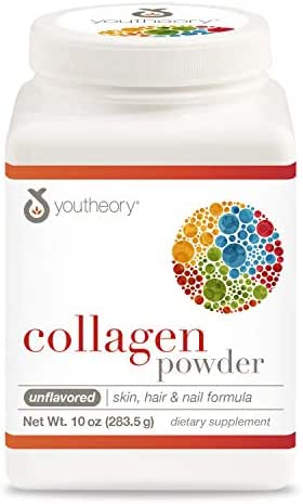 Youtheory Collagen Powder Unflavored, 10 Ounce Bottle