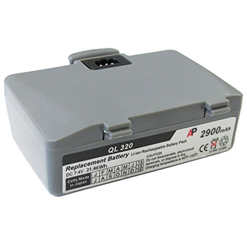 Zebra / Comtec QL320 and QL220 Printer: Replacement Battery. 2900 mAh (Ql220 Printer Mobile Zebra)