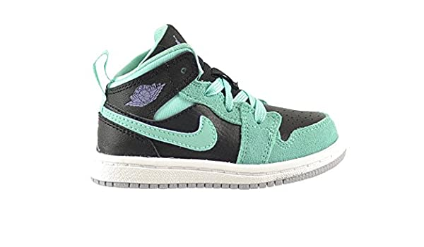 low priced 1d695 eb84f Amazon.com | Jordan 1 Mid GT Baby Toddlers Shoes Black/Iron ...