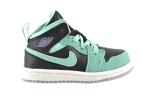 huge sale b1a00 dd829 Jordan 1 Mid GT Baby Toddlers Shoes Black Iron Purple-Bleached Turquoise  644507-