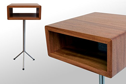 The Toole Nightstand/End Table: Sapele