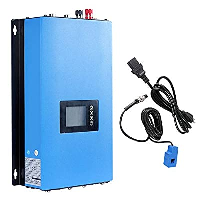 ECO-WORTHY Solar on Grid Tie Inverter Power Limiter MPPT PV System DC to AC