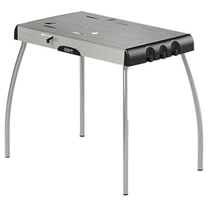 Weber Smokey Joe Table.Amazon Com Weber Portable Charcoal Table Garden Outdoor