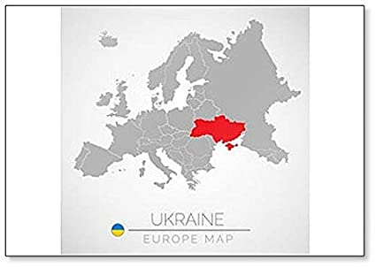Amazon Com Map Of Ukraine Classic Fridge Magnet Kitchen Dining