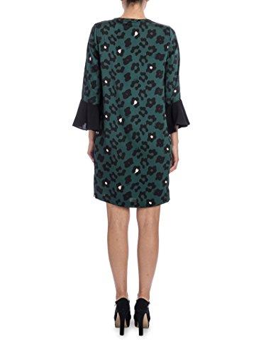Liu Jo Damen C67075T1935W9713 Grün Polyester Kleid
