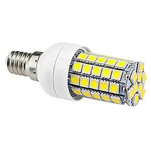 E14 6W 59x5050SMD 540LM 6000-6500K Natural White Light LED Corn Bulb (220-242V)