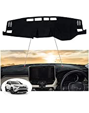 Kotesoto Dashboard Cover Mat Carpet for Toyota RAV4 2019 2020 2021 Accessories Anti-Glare UV Protection