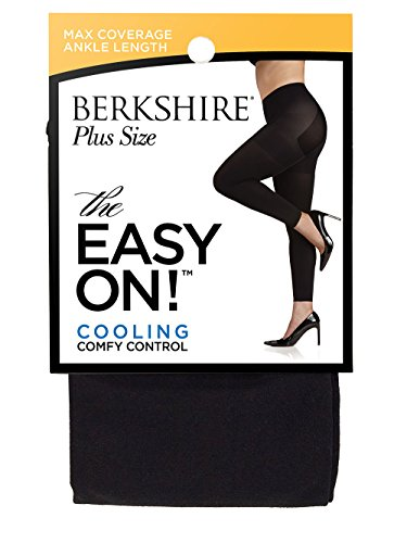 Berkshire Spandex Tights - Berkshire Women's Plus Size the Easy on Footless Max Coverage Tights, Black, 3X-4X