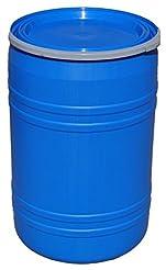 New 30 Gallon Plastic Drum Open Top Blue...