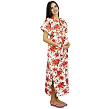 Bimba Delivery Maternity Gown Caftan Maxi, Front & Back Button Kaftan Dress
