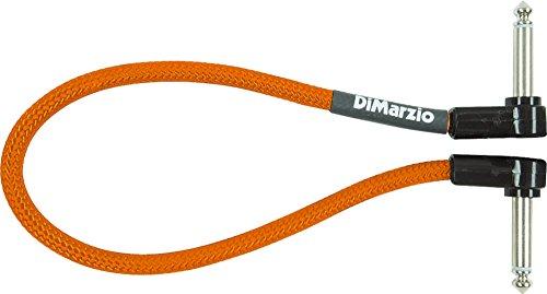 DiMarzio Neon Overbraid Jumper Cable Pedal Coupler Orange 12 - Neon Cable Guitar Orange