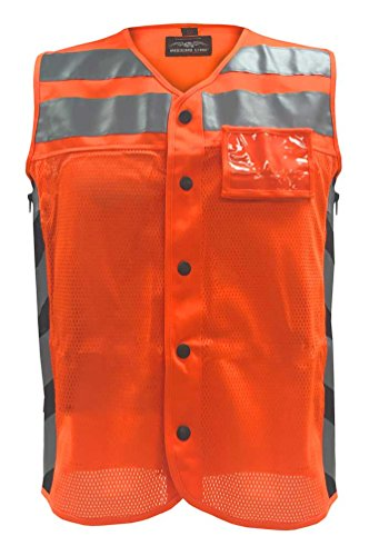 - Missing Link Men's Meshed Up Safety Vest Hi-Viz Reflective, Orange MUMO (L)