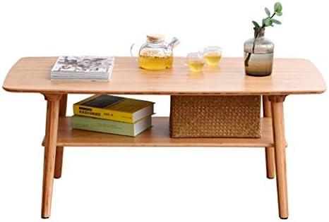 Best Verkopende Jixi Nordic Salontafel, natuurlijke bamboe-salontafel, creatief met dubbele theetafel, bijzettafel, woonkamertafel  QA7OTJE