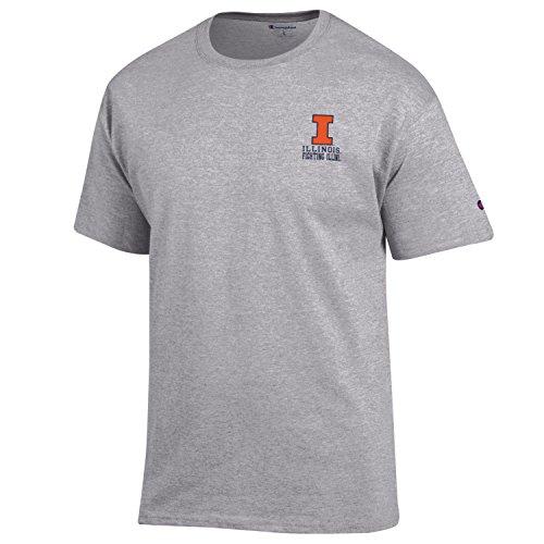 Champion NCAA Illinois Illini Men's Men's Flexbone Short sleeve T-Shirt, Medium, Gray - College Team Gear