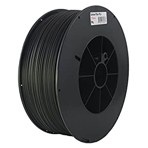 Proto-pasta CFP11730 The Original Carbon Fiber Spool , PLA 1.75 mm, 3 kg , Black by Protoplant INC