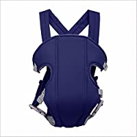 Ineffable® Adjustable Baby Carriers Cotton Infant Backpack & Carriers Kid Carriage Baby Safe Sling Child Care Product Baby Carrier Mini (Blue)