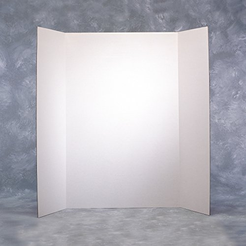 Elmer's Corrugated Tri-Fold Display Boards, 36 x 48 Inches, 1-Ply, White Inside/Kraft Outside, Case of 25 Boards (730300) Photo #2