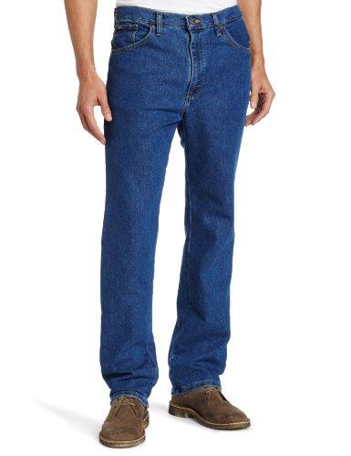 (Lee Men's Regular Fit Straight Leg Jean, Pepper Wash Stretch, 42W x 34L)