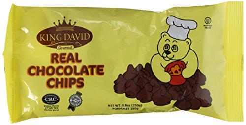 King David Kosher Non-dairy Vegan Lactose Free Dark Chocolate Chips 8.8 ounce/250grams (Pack of 4)
