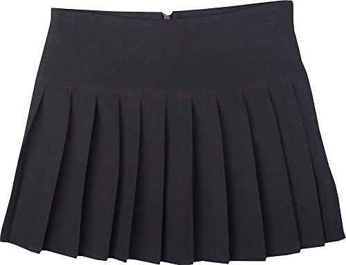 Jupes Taille Noir Plissage Femmes Tirette Dos Court Haute UK Filles Spears Taille Britney avec Global pw6qXBE