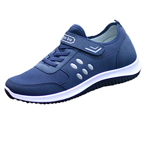 Men Slip-on Runing Shoes,Male Outdoor Mesh Breathable Sport Footwear Casual Comfy Solid Color Strap Sneakers