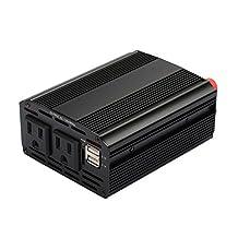 Sedeta 300W Car Power Inverter DC 12V to 110V Outlets Home Car RV Solar Power Converters for Household Appliance