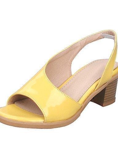Mekko Shangyi Kantapää Naisten Keltainen Sandaalit Hopea Pinkki Valkoinen Avoin Paksu Kengät qTYnrqO