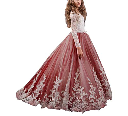 JYDress Flower Girl Dresses Noble Princess Lace Prom Beautiful Dress for $<!--$83.90-->