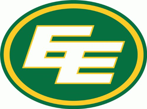 "Edmonton Eskimos CFL Canadian Football Bumper Sticker 5"" x 4"""