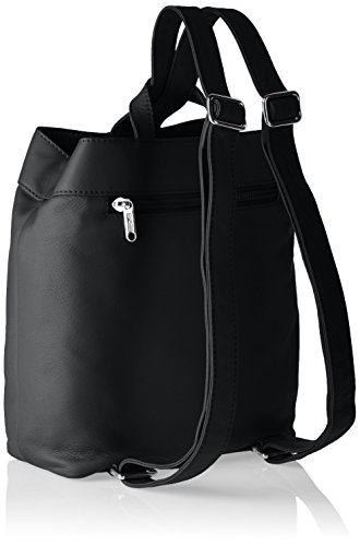 Bree Toulouse 7 - Bolso mochila Mujer Negro - Schwarz (black smooth 909)