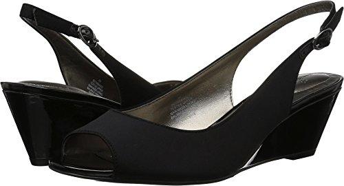 Toe Slingback Wedge - Bandolino Women's Hanikko Black 8 M US