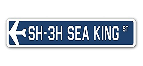 (Lancy's Artwork SH-3H SEA KING Street Sticker Military Aircraft Air Force Plane Pilot Gift - Sticker Graphic - Sticks to any smooth surface)