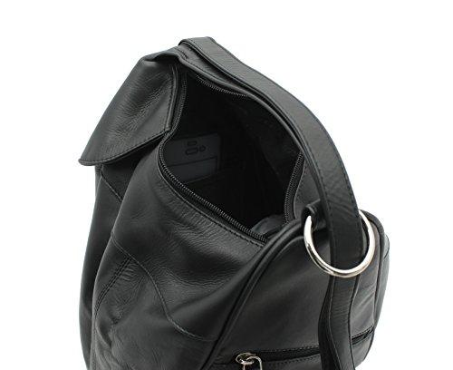 01721 Noir Cuir Dos en Visconti Style Marron à Sac I8OYxF