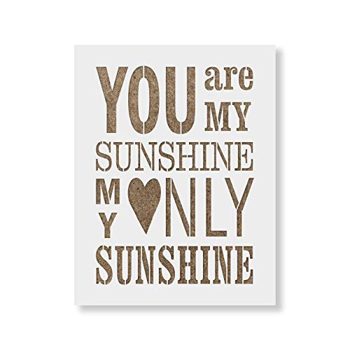 You Are My Sunshine Stencil (You are My Sunshine Stencil Template - Reusable Stencil with Multiple Sizes)