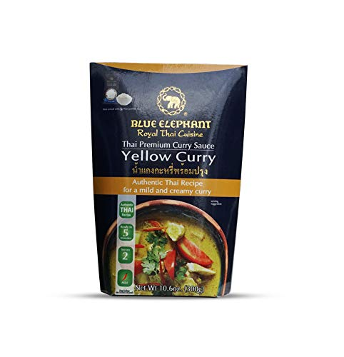 (Thai Yellow Curry Blue Elephant Royal Thai Cuisine, Thai Premium Curry Sauce (Yellow)